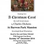 A Christmas Carol Poster 2014
