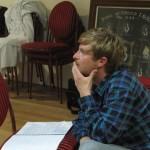 Ben Mitchell directing rehearsal