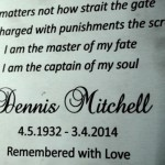 Dennis Mitchell Plaque