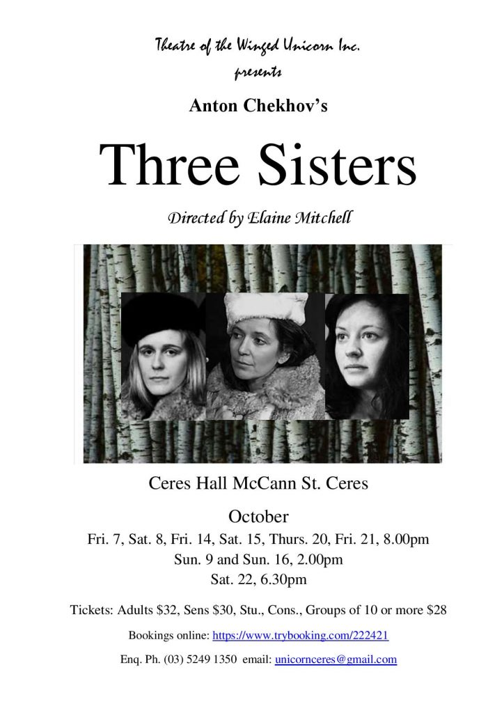 3 Sisters flyer